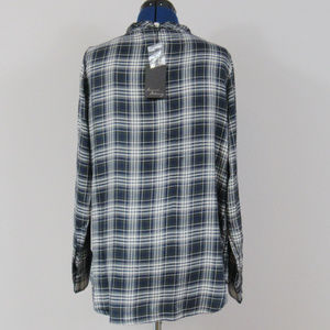 ade252c0592 Jane and Delancey Tops - Jane   Delancey Ruffled Flannel Top Large NWT